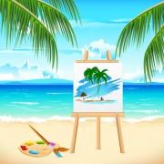 Link toSummer travel in tropical design elements vector 05
