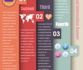 Set of Number of information banner vector graphic 01