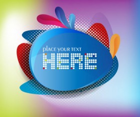 Colorful background with Shiny label vector graphic 02
