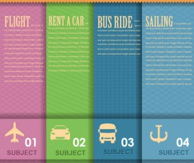 Set of Number of information banner vector graphic 04