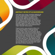 Link toBusiness style background template vector set 03