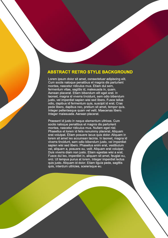 Business Style Background Template Vector Set 03