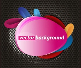 Colorful background with Shiny label vector graphic 03