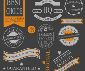 Different guaranty quality labels vector set 02