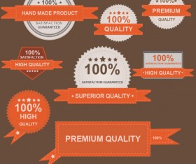 Different guaranty quality labels vector set 03