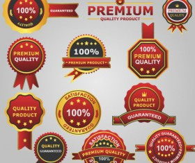 Different guaranty quality labels vector set 04