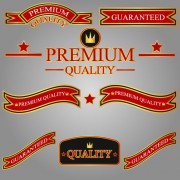 Link toDifferent guaranty quality labels vector set 05