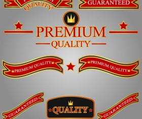 Different guaranty quality labels vector set 05