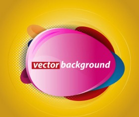 Colorful background with Shiny label vector graphic 04