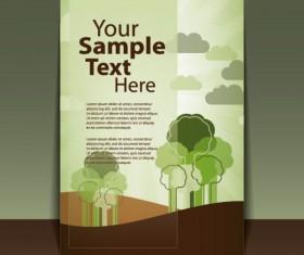 brochure cover design elements vector graphic set 03