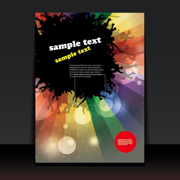 brochure cover design elements vector graphic set 04