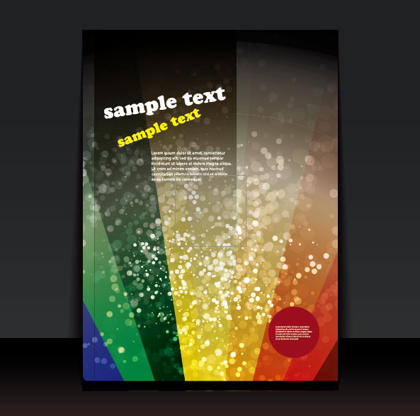 brochure cover design elements vector graphic set 05
