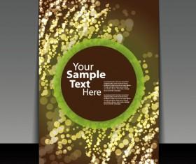 brochure cover design elements vector graphic set 06