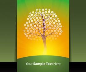 brochure cover design elements vector graphic set 08