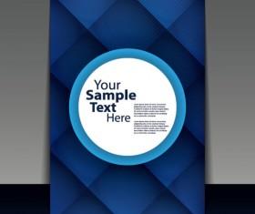 brochure cover design elements vector graphic set 09