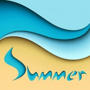 Link toSummer and cartoon waves background vector 03