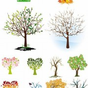 Link toDifferent shape tree design vector