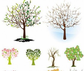 Different Shape Tree design vector