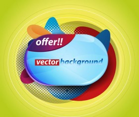 Colorful background with Shiny label vector graphic 05