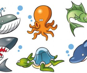 Lovely Marine Animal design vector
