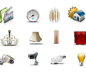 Different commonly Living icon set