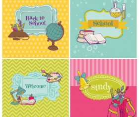 Cartoon School theme Illustration vector 02
