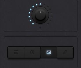Black Rotation button psd