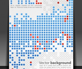 creative Pixels background vector set 01