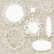 Link toHollow floral ornaments and lace vector 01
