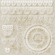 Link toHollow floral ornaments and lace vector 02