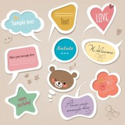 Link toCute baby frames with text label vector 03