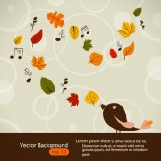 Link toHand drawn maple leaf elements vector background 03