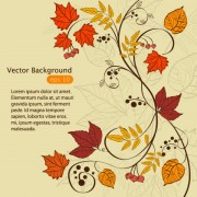 Link toHand drawn maple leaf elements vector background 04