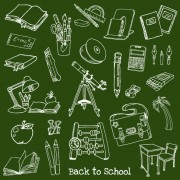 Link toHand drawn school elements vector set 02