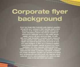 covers of corporate flyer vector background 01