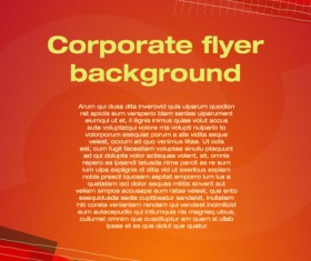 covers of corporate flyer vector background 02