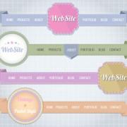 Link toCreative website navigation menu design vector 01