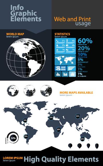 Economy Infographics design elements vector graphic 04