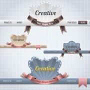 Link toCreative website navigation menu design vector 05