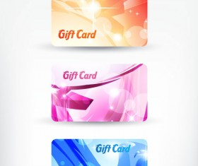 Bright gift cards design elements vector graphic 01