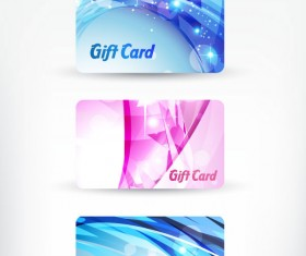 Bright gift cards design elements vector graphic 02
