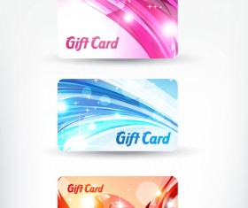 Bright gift cards design elements vector graphic 03