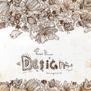 Link toHand drawn flower vector background art 01