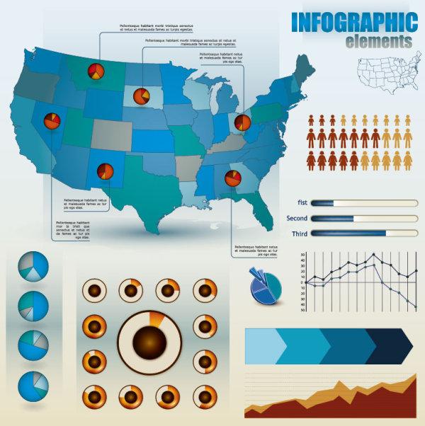 Economy Infographics design elements vector graphic 05