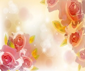 Bright background with flower design vector 02
