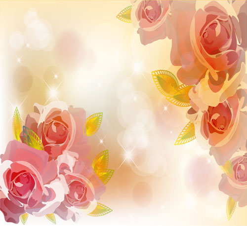 Bright Background With Flower Design Vector 02 Free Download
