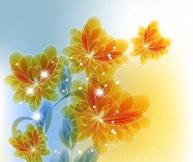 Bright background with flower design vector 04