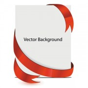 Link toPaper and red ribbons background design vector