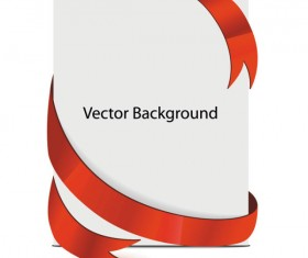 Paper and red ribbons background design vector