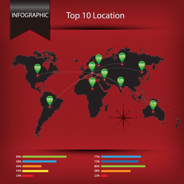Economy Infographics design elements vector graphic 06